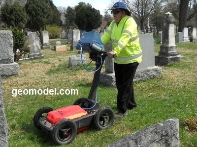 GeoModel's better GPR cart - plastic cart - no interference