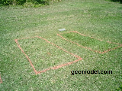 Unmarked and marked gravesites located by GeoModel, Inc. using GPR