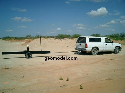 truck pulled electronic instrumentation with GPS positioning