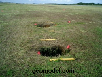 GeoModel, Inc. sinkhole location survey at an airport
